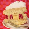 Raspberry Lemon Meringue Cake