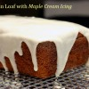 Pumpkin Loaf with Maple Cream Icing