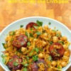 Spicy Sweet Potato Noodles with Chorizo and Chickpeas