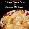 Perishke - Ukrainian Cottage Cheese Buns in Creamy Dill Sauce