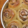 Holiday Cinnamon Buns with Pistachio, Orange & Dark Chocolate