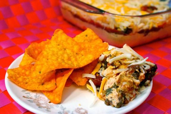 Layered Taco Dip – Claudia's Cookbook