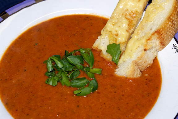 Fiery Roasted Garlic Tomato Soup 17