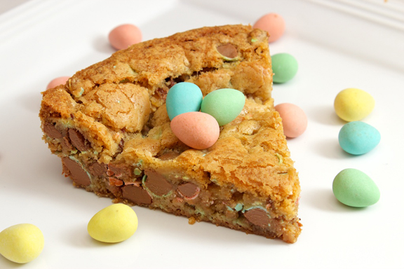 Claudia's Cookbook - Cadbury Mini Egg Skillet Cookie 14