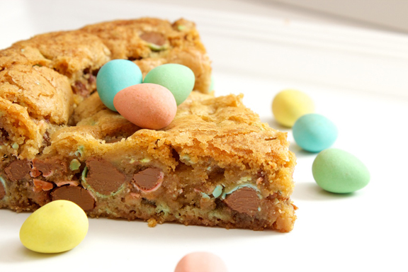 Claudia's Cookbook - Cadbury Mini Egg Skillet Cookie 15