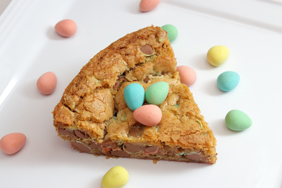 Claudia's Cookbook - Cadbury Mini Egg Skillet Cookie 16