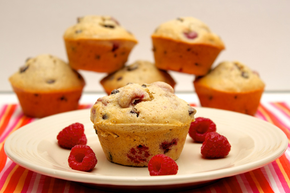 Claudia's Cookbook - Raspberry Chocolate Chip Muffins 14