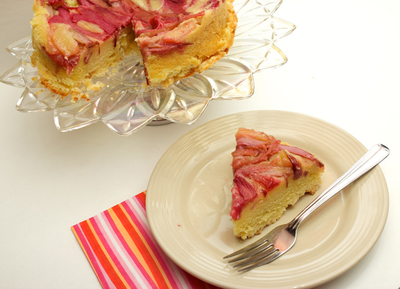 Rhubarb Upside Down Cake Claudia S Cookbook