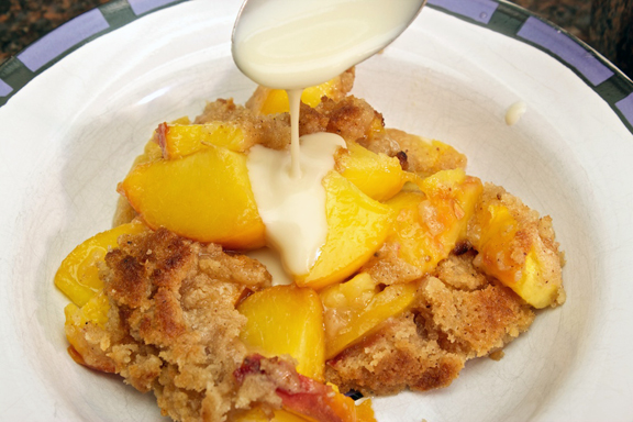 Claudia's Cookbook - Peach Crisp with Maple Cream Sauce 17