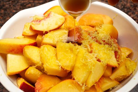 Peach Crisp with Maple Cream Sauce – Claudia's Cookbook