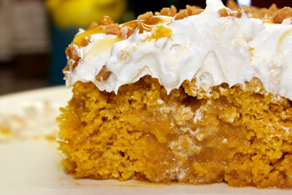 Pumpkin Caramel Dream Cake