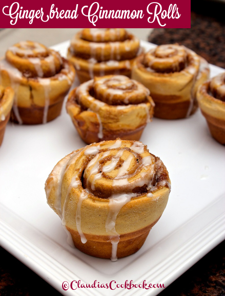 Claudia's Cookbook - Gingerbread Cinnamon Rolls 26