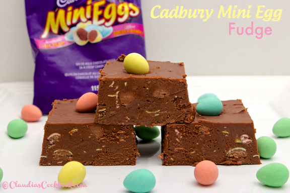Claudia's Cookbook - Cadbury Mini Egg Fudge cover