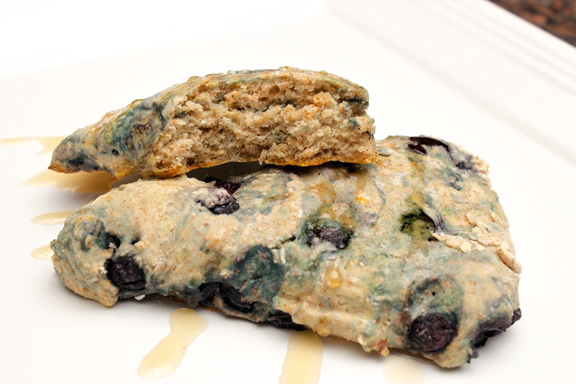 Claudia's Cookbook - Honey Drizzled Baked Blueberry Bannock 10