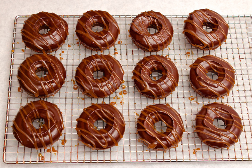 Claudia's Cookbook - Salted Caramel Mocha Donuts 15