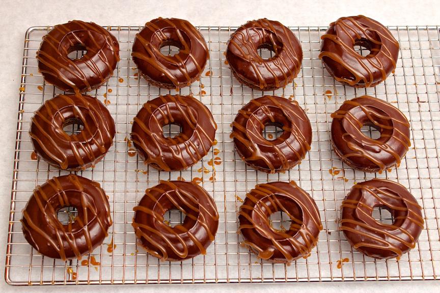 Claudia's Cookbook - Salted Caramel Mocha Donuts 15