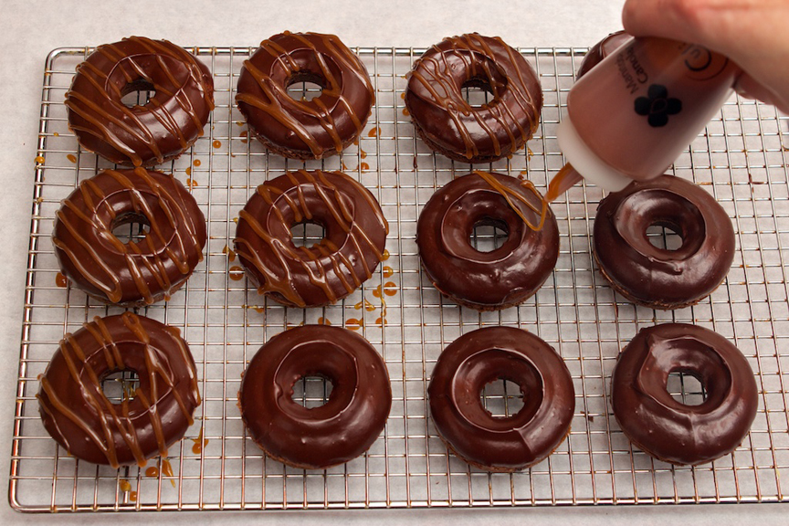 Claudia's Cookbook - Salted Caramel Mocha Donuts 16