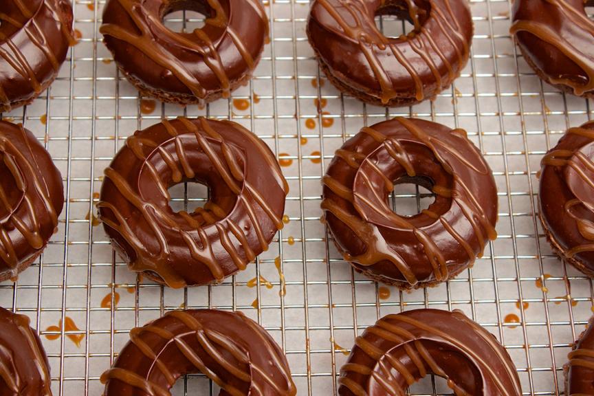 Claudia's Cookbook - Salted Caramel Mocha Donuts 18