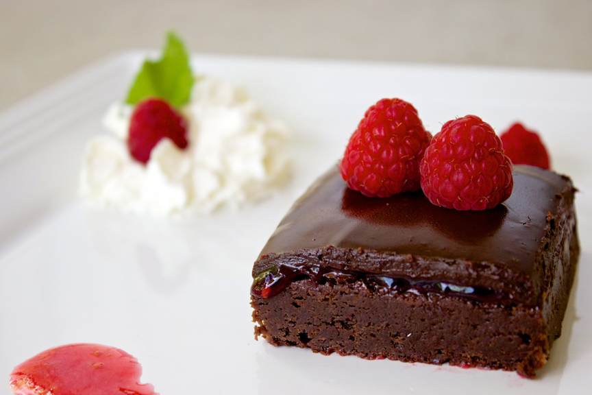 Claudia's Cookbook - Raspberry Brownies 16