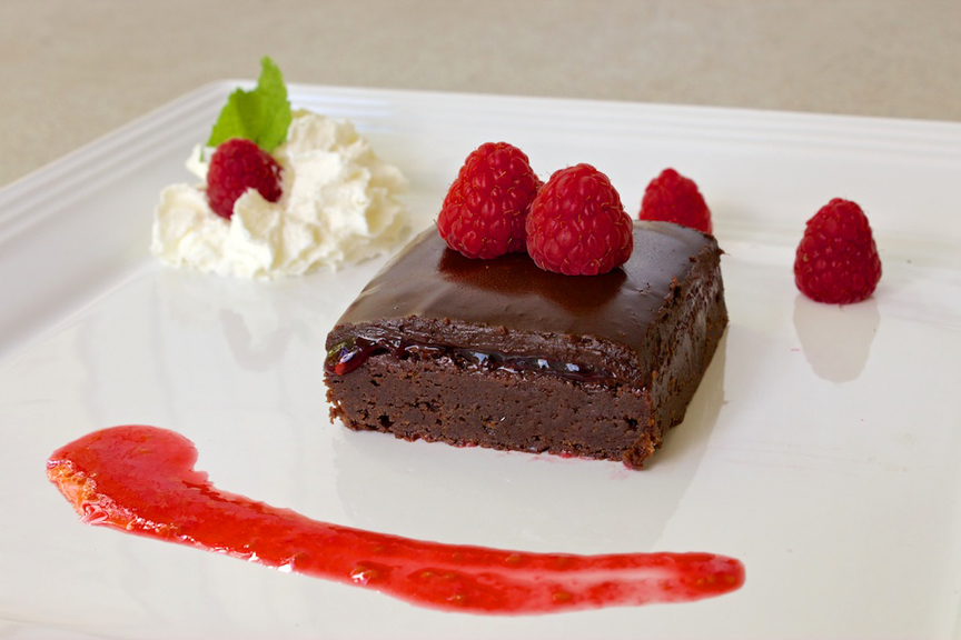 Claudia's Cookbook - Raspberry Brownies 18
