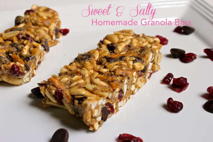 Claudia's Cookbook - Sweet and Salty Homemade Granola Bars cover