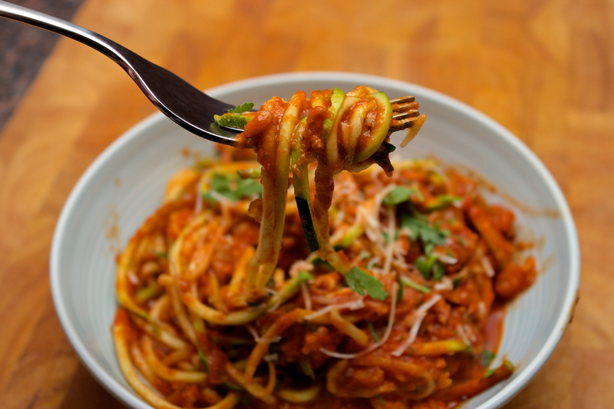 Claudia's Cookbook - Zucchini Spaghetti with Spicy Turkey Bolognese  24