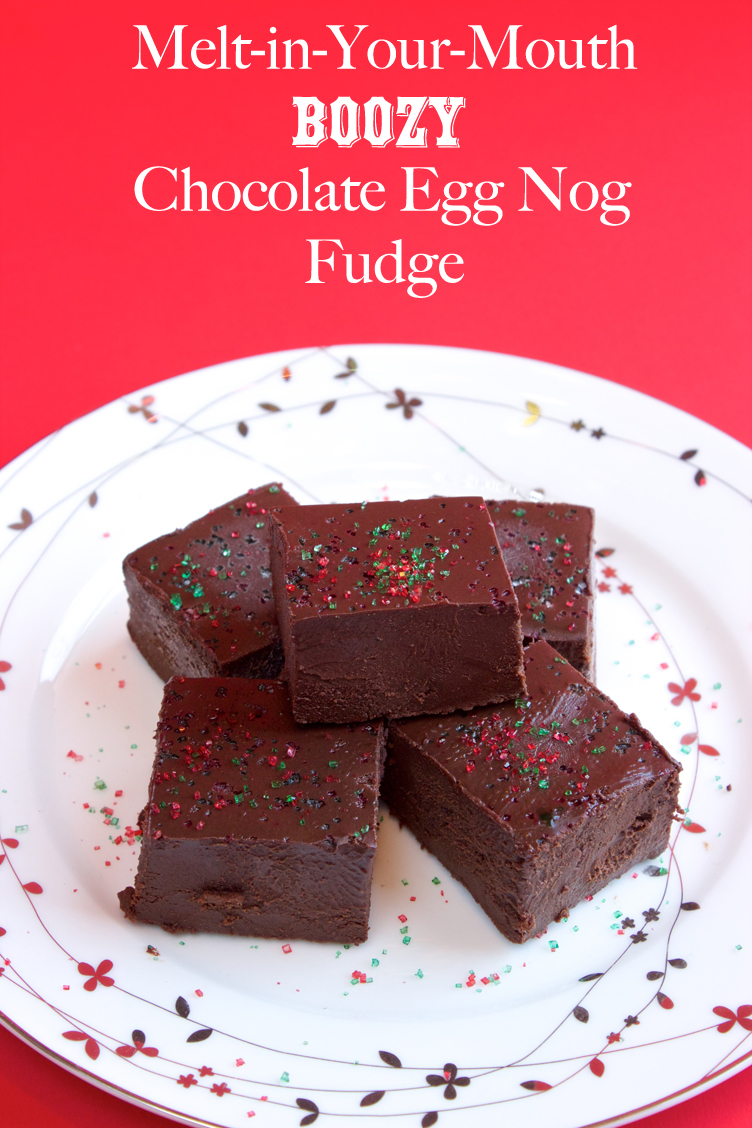 Claudia's Cookbook - Melt in your Mouth Boozy Chocolate Egg Nog Fudge cover