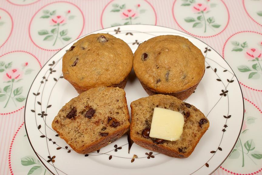 Claudia's Cookbook - Banana Chocolate Chip Muffins 12