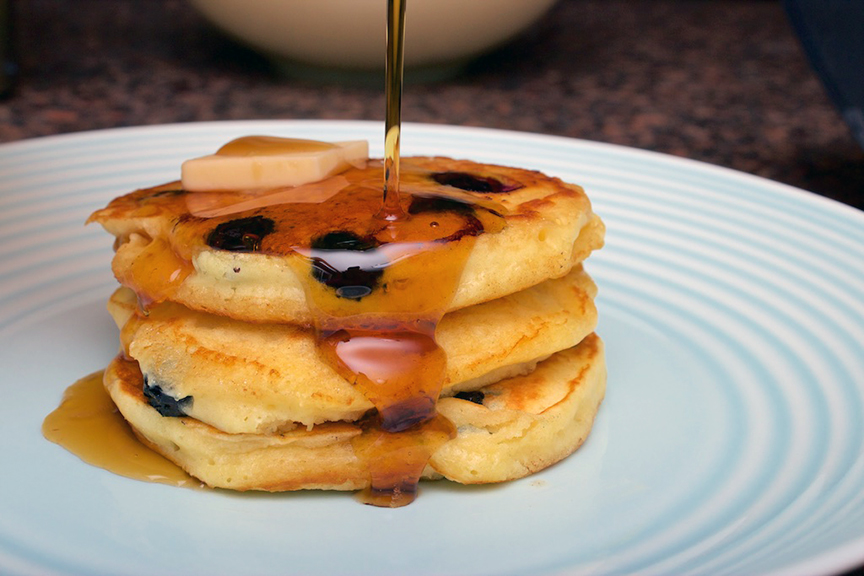 © Claudia's Cookbook - Melt in your Mouth Blueberry Buttermilk Pancakes 17