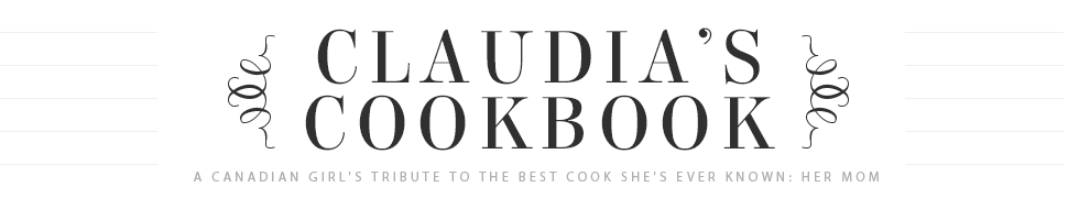 Claudia's Cookbook