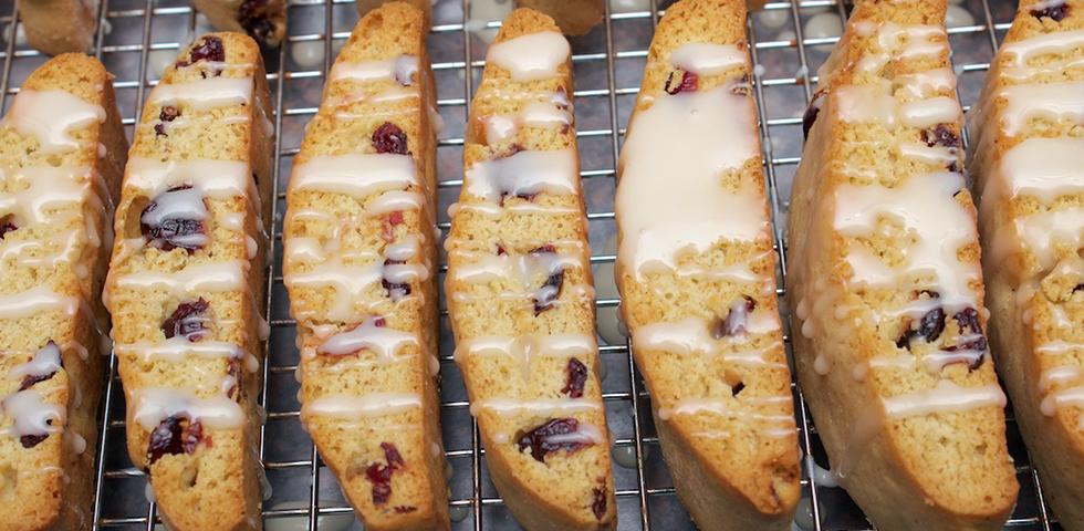 © Claudia's Cookbook - Cranberry Eggnog Biscotti