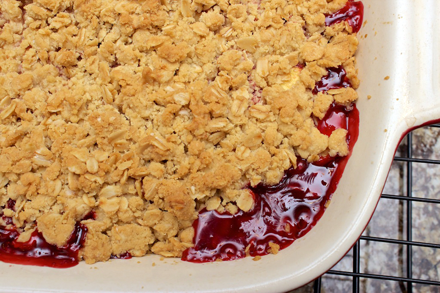 © Claudia's Cookbook - Strawberry Peach Crisp 13