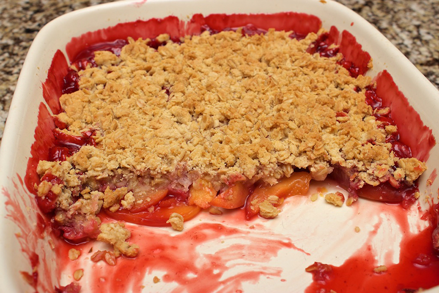 © Claudia's Cookbook - Strawberry Peach Crisp 17