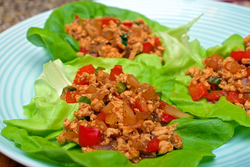 © Claudia's Cookbook - Spicy Chicken Lettuce Wraps 11